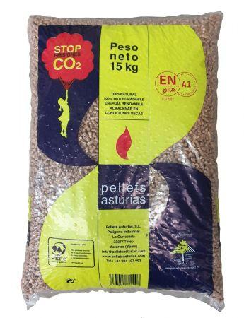 Pellets Asturias 12 Sacos - 15 kg/Saco