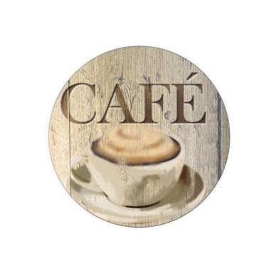 Salvamanteles Vidrio/Café 20x0,8x20 cm - Wenko
