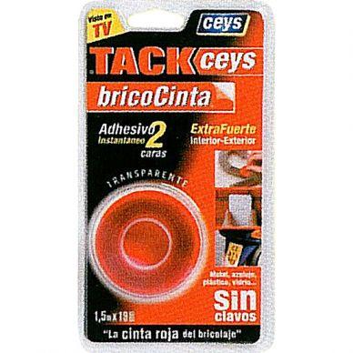 Cinta adhesiva Ceys Tack 2 caras 19 mm 1,5 m
