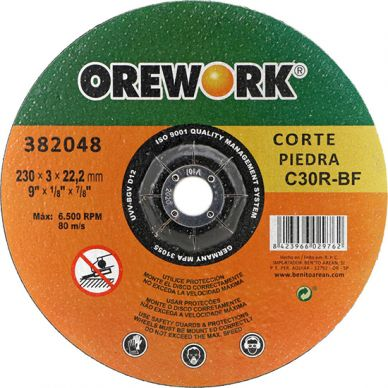 Disco corte OREWORK PRO piedra C30R-BF 230x3x22,2 mm