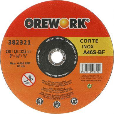 Disco corte OREWORK PRO inox A60S-BF 115x1,2x22,2 mm