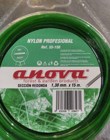 HILO NYLON PROFESIONAL DESBROZADORA (1,30mm x 15m) ANOVA