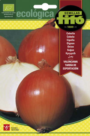 Semillas ecológicas de Cebolla Valenciana Tardía de Expotación, 2 gr