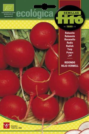 Semillas Ecológicas de Rabanito Redondo Rojo-Vermell,