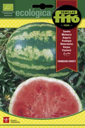 Semillas Ecológicas de Sandía Crimson Sweet, 2 gr
