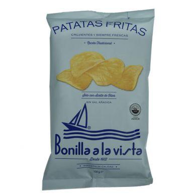 Patatas Fritas Sin Sal Bolsa 150 g - Bonilla a la Vista