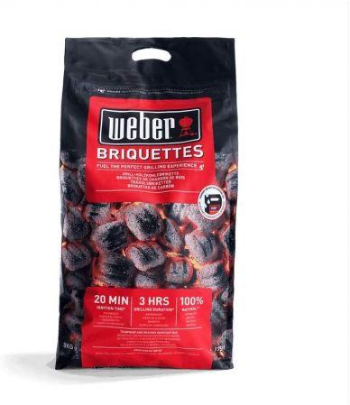 Briquetas de carbón vegetal para barbacoa 17591 - Weber - 8 Kg