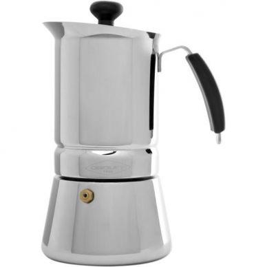 Cafetera inox  Arges 4 tazas -Oroley-