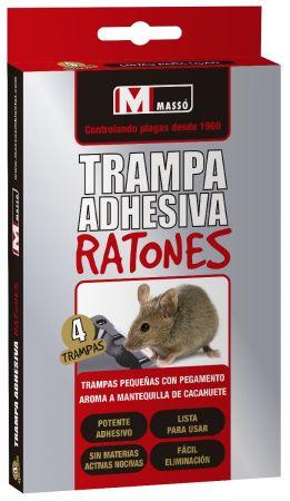 TRAMPA ADHESIVA RATONES - MASSÓ - 4 UD