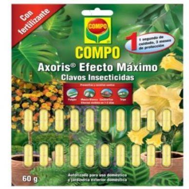 CLAVOS INSECTICIDAS Axoris Efecto Máximo - COMPO - 60g
