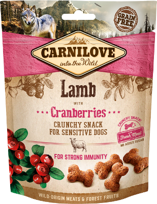 CARNILOVE SNACK PERRO SABORES-200 gr-Crunchy Lamb with Cranberries