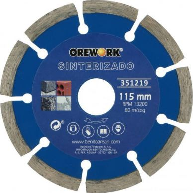 DISCO DIAMANTE SINTERIZADO 115 mm OREWORK