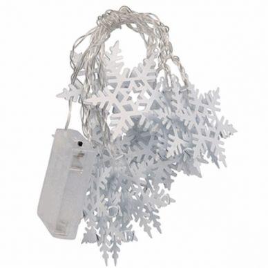 Guirnalda luces LED Copos de Nieve Blanco 1,8m