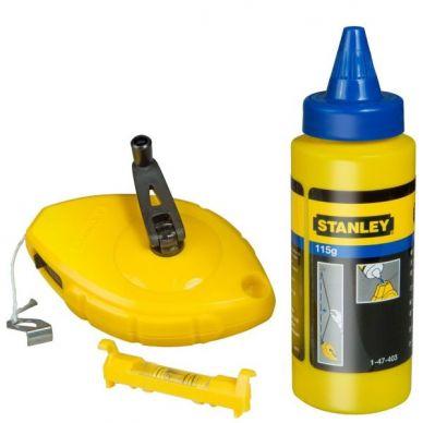 Kit tiralíneas 30 m + polvo + nivel cordel Stanley