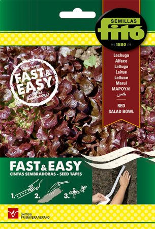 Lechuga Red Salad Bowl, 15 gr (Cintas sembradoras)