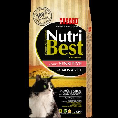 NutriBest Cat Sensitive Salmon & Rice 15 Kg