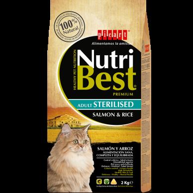 NutriBest Cat Sterilised Salmon & Rice 8 Kg