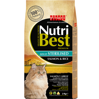 NutriBest Cat Sterilised Salmon & Rice - Picart - 2Kg