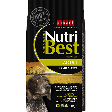 NutriBest Adult Lamb & Rice - Picart - 15Kg