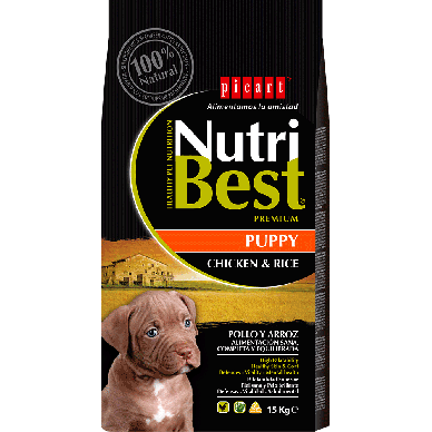 NutriBest Puppy Chicken & Rice - Picart - 3Kg