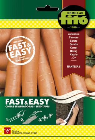 Zanahoria Nantesa 5, 15 gr (Cintas sembradoras)
