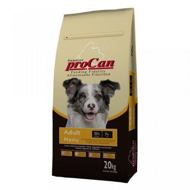 Pienso Perro Adult Menu - Sumicor Procan Coren - 20Kg