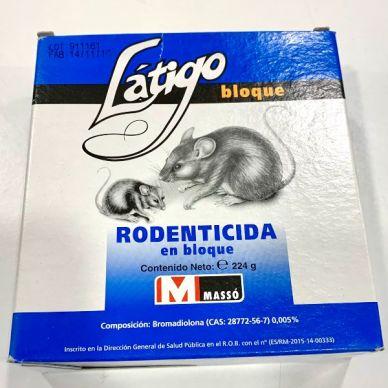 RODENTICIDA LÁTIGO BLOQUE - MASSÓ - 224g