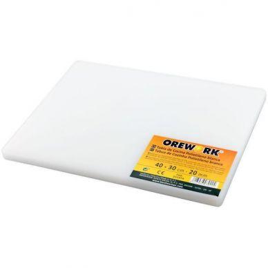 TABLA CORTAR COCINA PE CE - OREWORK -BLANCA 30 x 40 x 4 cm