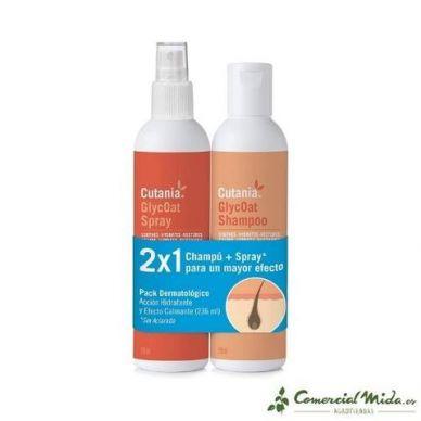 Champú dermatológico para perros, gatos y caballos + spray para un mayor efecto